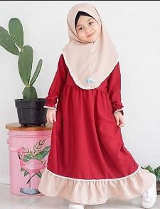 Jual Baju Gamis Muslim Anak | Baju Lebaran Anak | Sayang Bunda Pekanbaru
